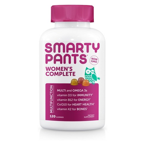 SmartyPants Women's Complete Multivitamin Gummies - Lemon, Orange, Strawberry - 120ct - image 1 of 4