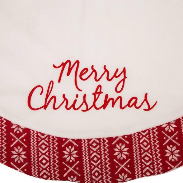 Christmas Fleece.48 Merry Christmas Fleece Christmas Tree Skirt White Glitzhome