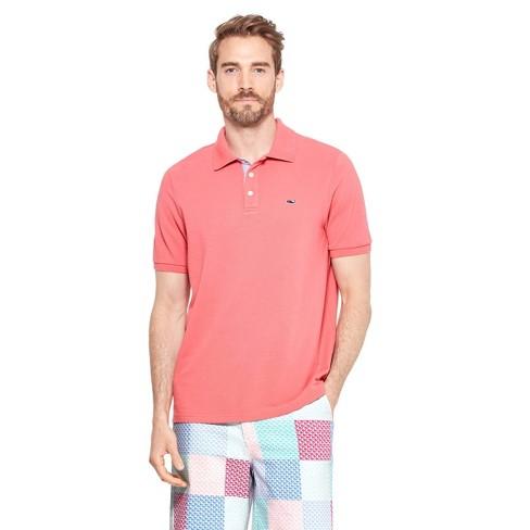 d678852458 Men's Short Sleeve Polo Shirt - Red - Vineyard Vines® For Target ...