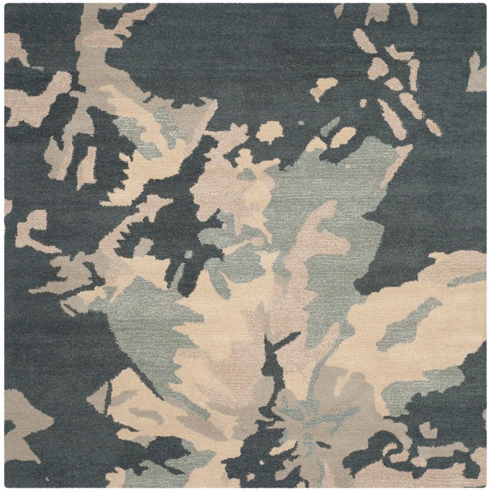 6'X6' Camouflage Square Area Rug Steel Blue - Safavieh