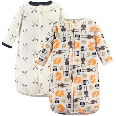 Hudson Baby Infant Boy Cotton Long-Sleeve Wearable Sleeping Bag, Sack, Blanket, Forest