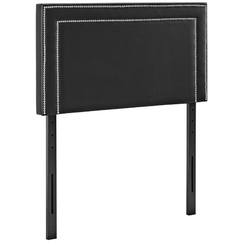 Jessamine Twin Upholstered Vinyl Headboard Black - Modway - image 1 of 4