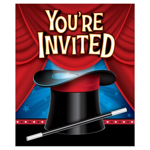 8ct magic party invitations target