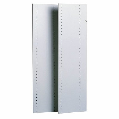 Easy Track Vertical 48 Inch Panels for Added Closet Organization and Storage Solutions Compatible with Easy Track Closet Systems, White (2 Pack)