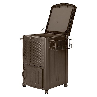 Suncast Cooler Box Resin Wicker 77 Quart