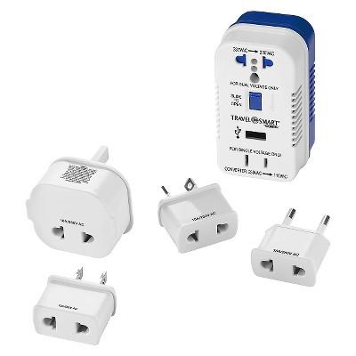 Travel Smart 2 Outlet Converter Set w/ USB Port