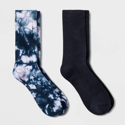 Women's 2pk Tie-Dye Half Cushion Crew Socks 4-10