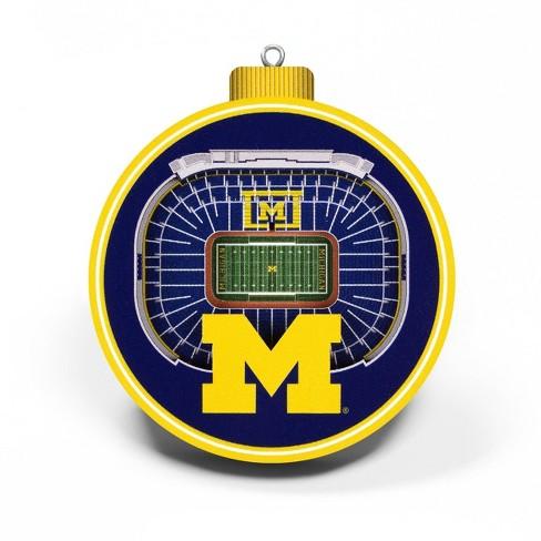 NCAA Michigan Wolverines 3D Stadium View Ornament - image 1 of 4
