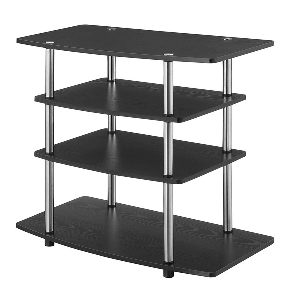 "32"" Designs2Go No Tools Highboy TV Stand Black - Johar Furniture 32  Designs2Go No Tools Highboy TV Stand Black - Johar Furniture"
