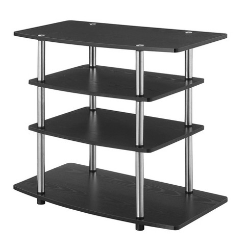 """No Tools Highboy TV Stand for TVs up to 32"""" Black - Breighton Home - image 1 of 3"""