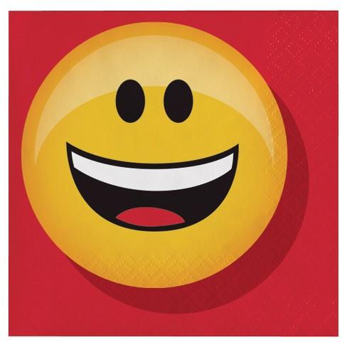 Show Your Emojions Beverage Napkins, 16 pk - image 1 of 2
