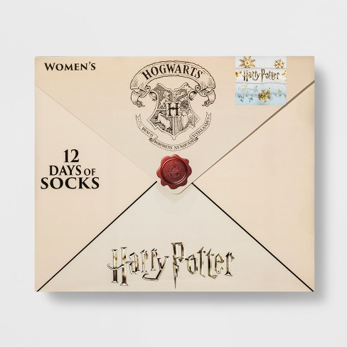 womens harry potter letter 12 days of socks advent calendar color may vary 4 10 target