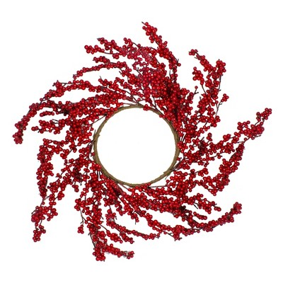 """Northlight 28"""" Unlit Red Berries Artificial Christmas Wreath"""