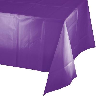 3ct Amethyst Plastic Tablecloths Purple