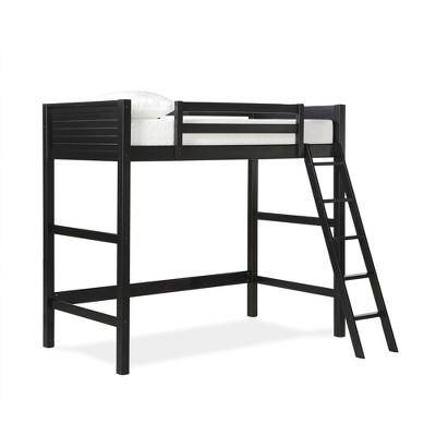 Twin Houston Kids' Wooden Loft Bed with Ladder - Room & Joy