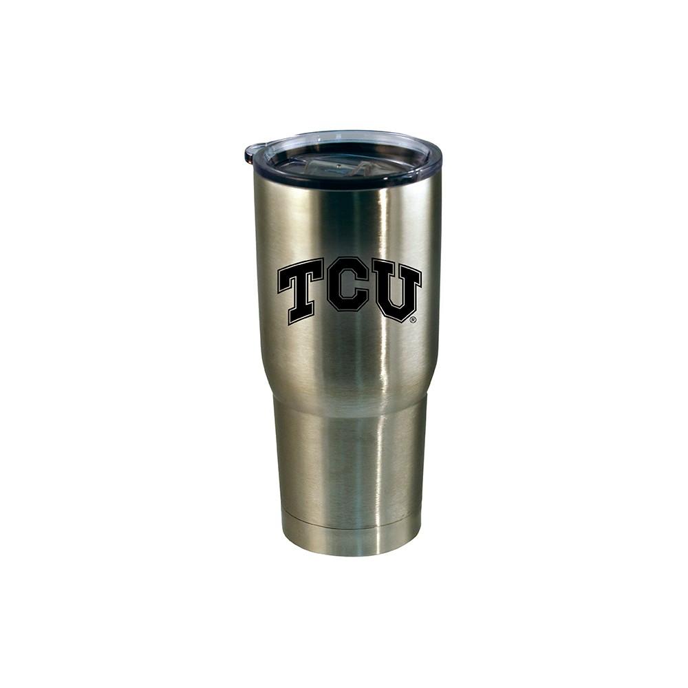 Tcu Horned Frogs Stainless Steel Retro Logo Tumbler - Black - 20oz