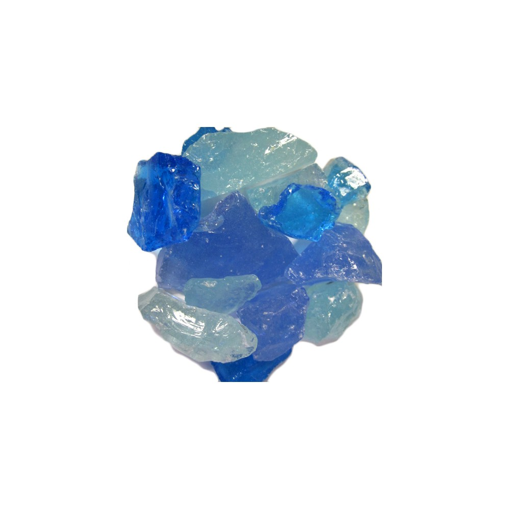 AZ Patio Heaters Recycled Fire Pit Fire Glass - Royal Blue