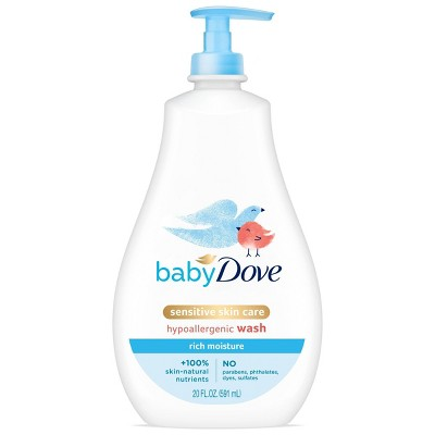 Baby Dove Rich Moisture Sensitive Skin Hypoallergenic Wash - 20 fl oz