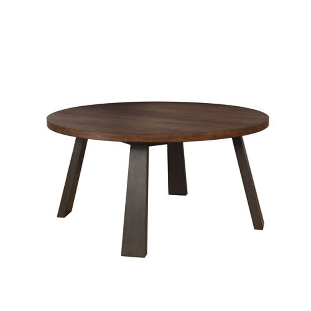 Rexford Round Wood Dining Table Brown/Espresso - ioHOMES