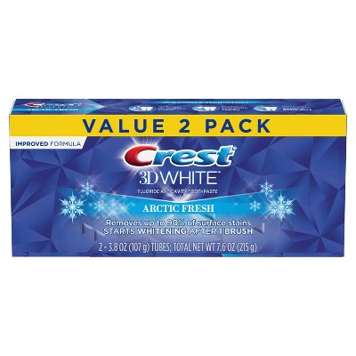 Crest 3D White Arctic Fresh Whitening Toothpaste Icy Cool Mint - 3.8oz
