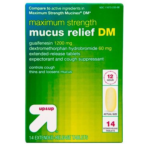 Maximum Strength Mucus Relief DM Caplets - 14ct - Up&Up™ - image 1 of 4