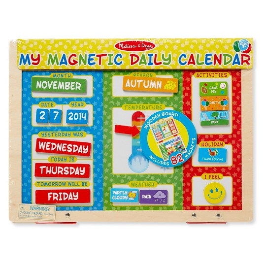 Melissa & Doug My First Daily Magnetic Calendar image number null