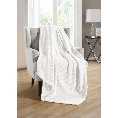 Kate Aurora Living Ultra Soft And Plush Tufted Hypoallergenic Fleece Throw Blanket Covers