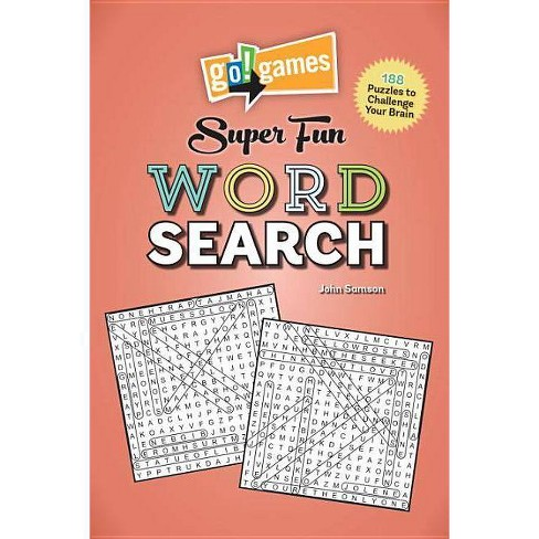 Go!games Super Fun Word Search - by  John Samson (Paperback) - image 1 of 1