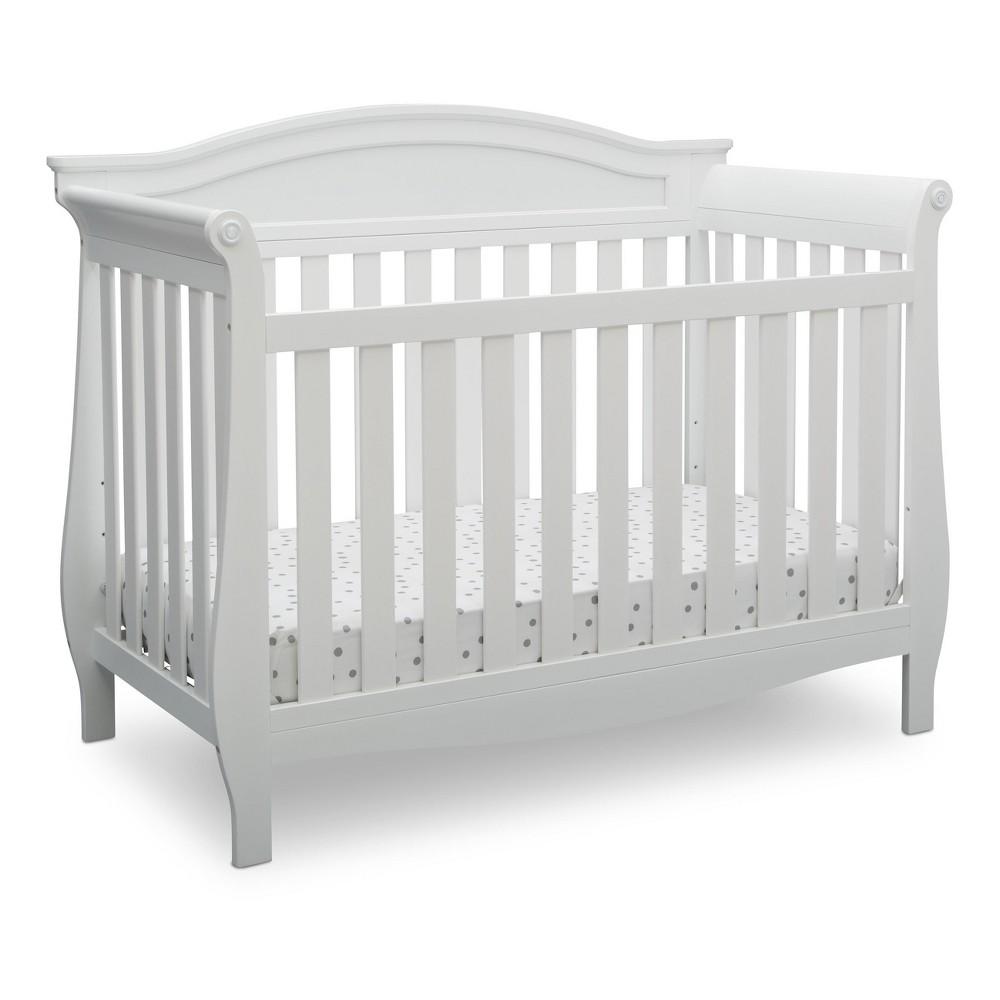 Delta Children Lancaster 4-in-1 Convertible Crib - Bianca White