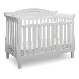 Delta Children Lancaster 4-in-1 Convertible Crib - Bianca White