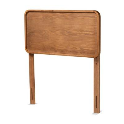 Twin Mailene Wood Headboard Walnut - Baxton Studio