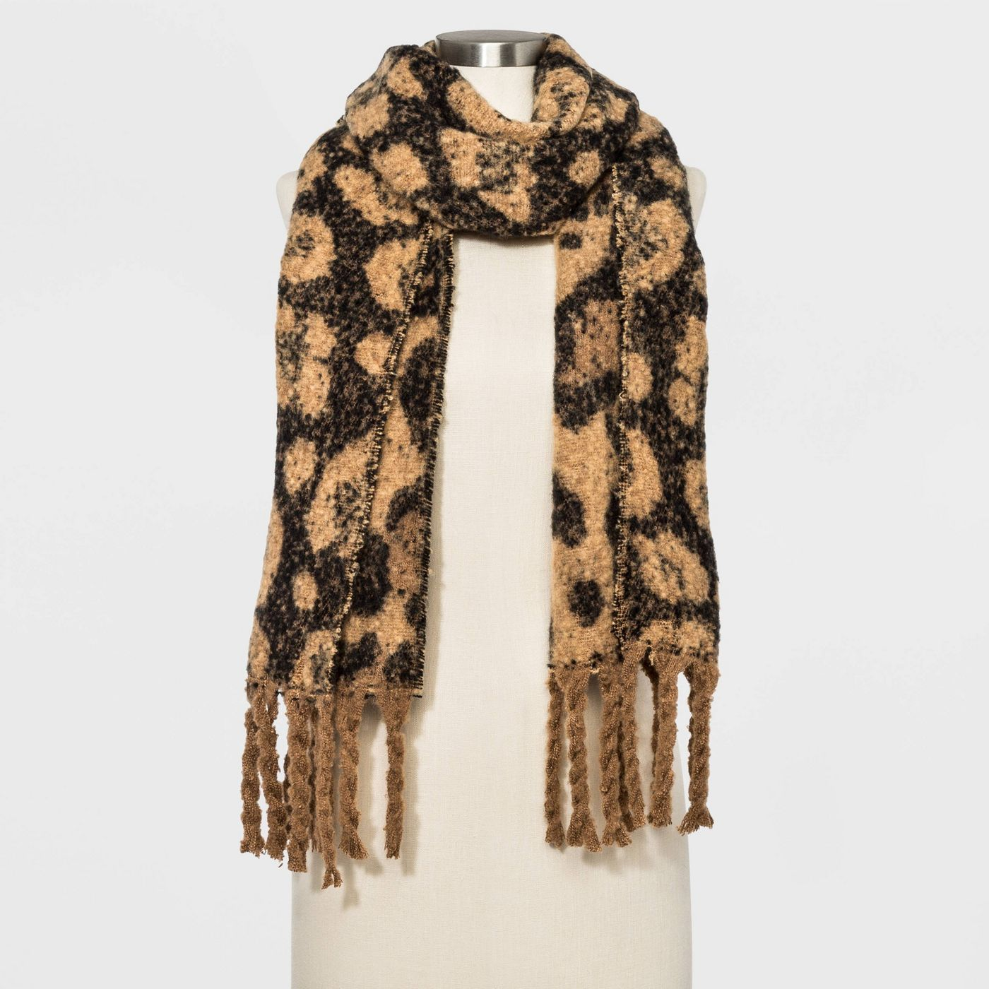 Women's Brushed Blanket Scarf - A New Day™ Brown One Size - image 1 of 2