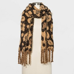 Women's Brushed Blanket Scarf - A New Day™ Brown One Size