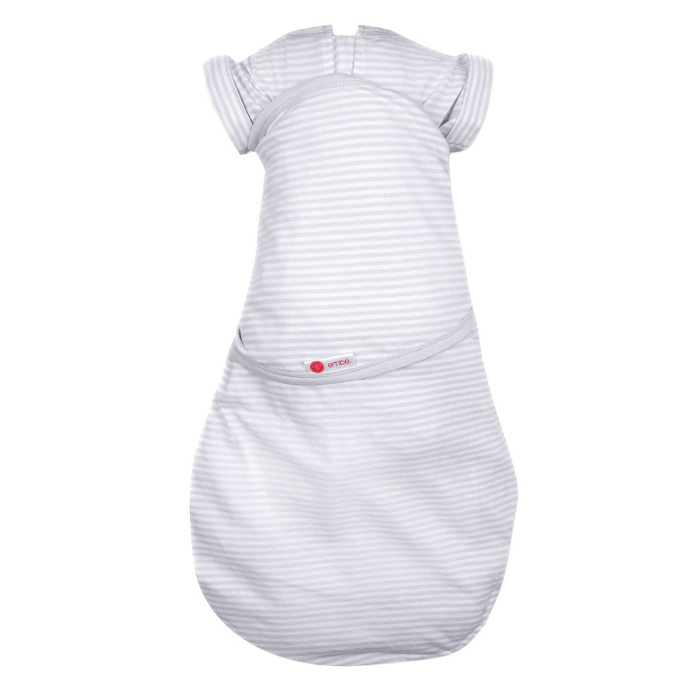 Image of embe Transitional Swaddle Out - Gray Stripe