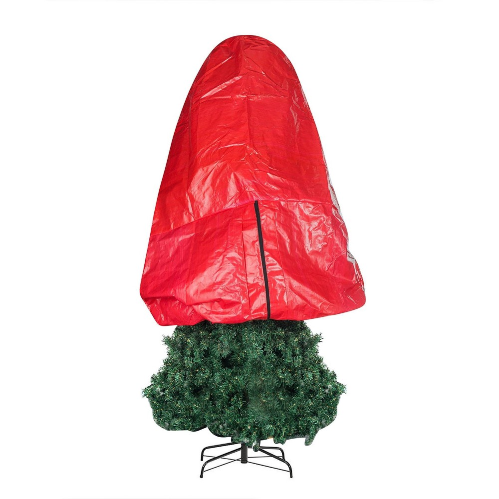 """Image of """"4.5"""""""" Premium Christmas Tree Cover Holiday Red Medium Size - Elf Stor"""""""