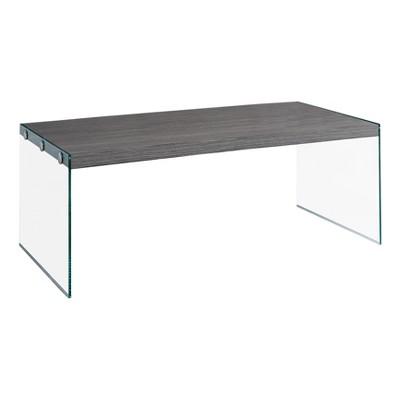 Coffee Table   Grey U0026 Tempered Glass   EveryRoom