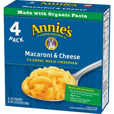 Annie's Macaroni & Cheese Classic Mild Cheddar 4pk - 24oz