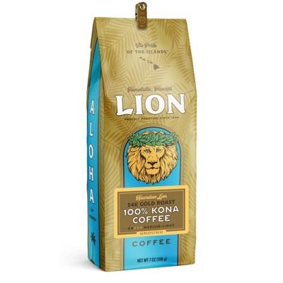 Lion Coffee 100% Kona Medium Roast Ground Coffee - 7oz