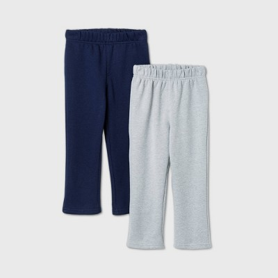 Toddler Boys' 2pk Fleece Pull-On Pants - Cat & Jack™ Navy