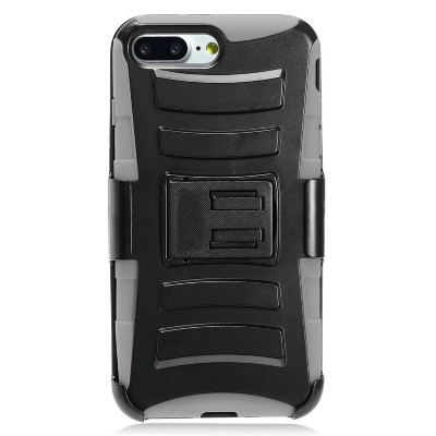 Insten Advanced Armor Dual Layer Hybrid Stand PC/Silicone Holster Case Cover for Apple iPhone by Eagle