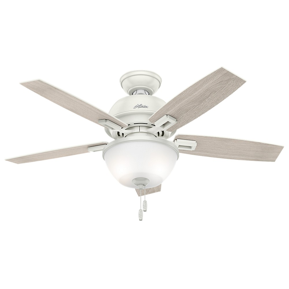 "Image of ""44"""" Donegan Bowl Light Fresh White Ceiling Fan with Light - Hunter Fan"""