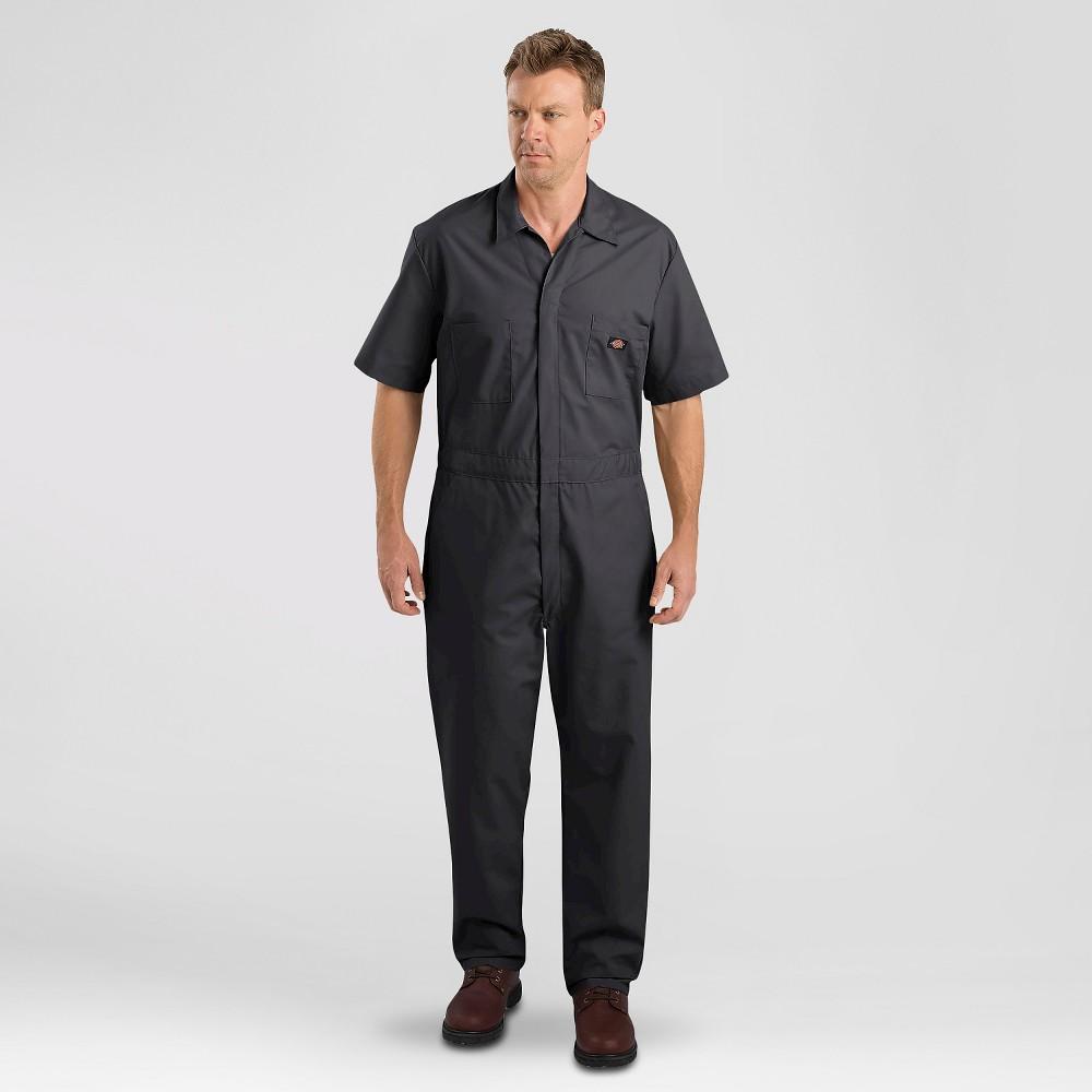 Dickies Men's Big & Tall Short Sleeve Coverall- Black L Tall, Size: LT