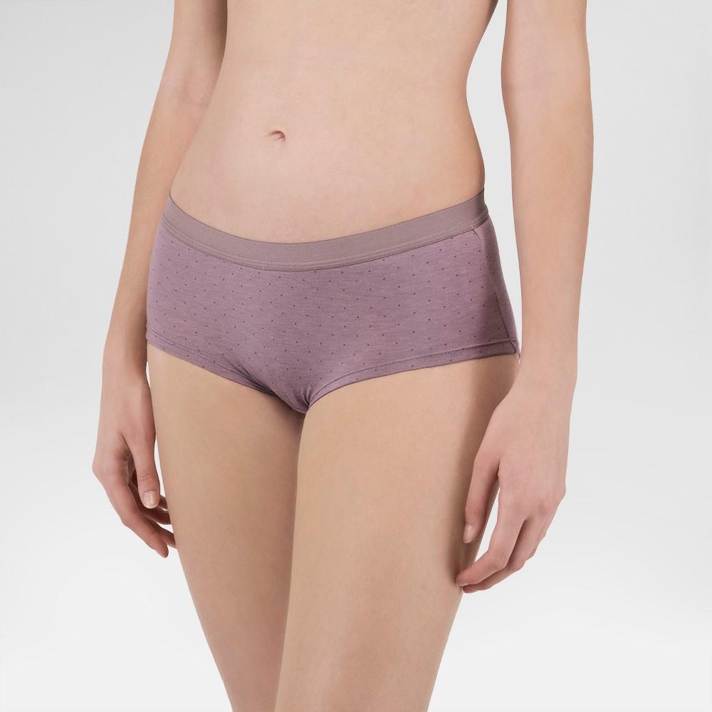 Wander by Hottotties Women's Polka Dot Flow Boy Shorts - Twilight Purple XL