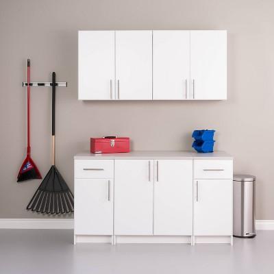 "64"" Elite with 5 Storage Cabinet Set White - Prepac"
