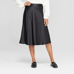 7db331430a45f Women's Colorblock Pleated Skirt - A New Day™ Black/White : Target