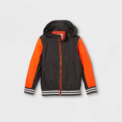 Boys' Windbreaker Jacket - Cat & Jack™ Gray/Orange