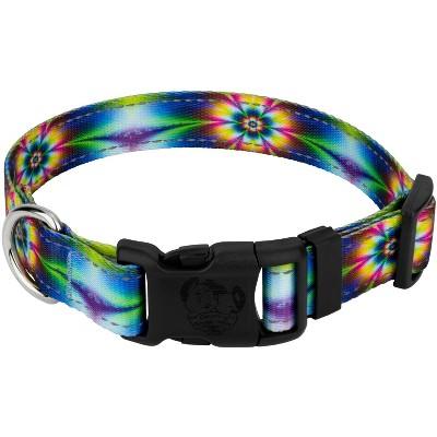 Country Brook Petz® Deluxe Tie Dye Flowers Reflective Dog Collar