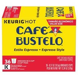 Cafe Bustelo Espresso Dark Roast Coffee - Keurig K-Cups Pods - 36ct