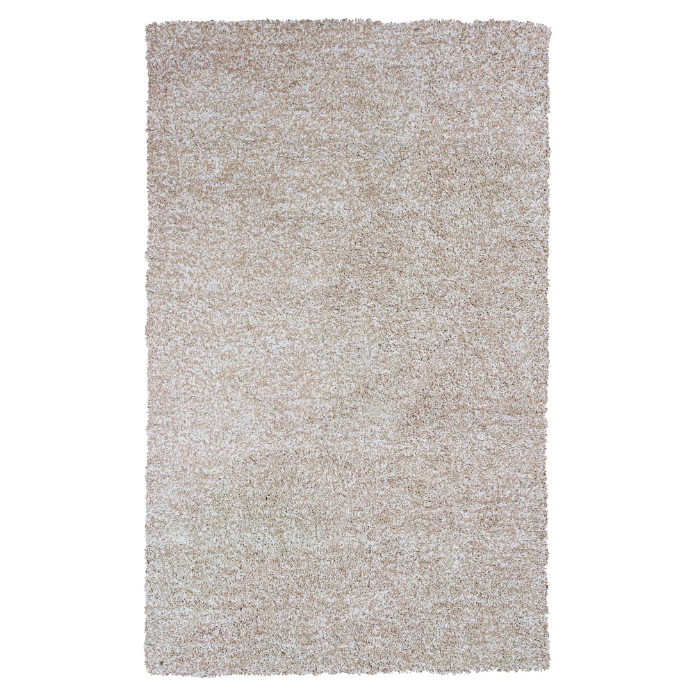 Ivory Solid Woven Area Rug 8'x11' - KAS Rugs Product Image