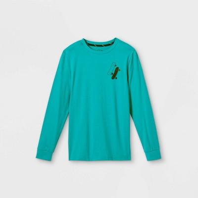 Boys' 'Let's Ride' Graphic Short Sleeve T-Shirt - art class™ Teal